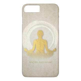 Elegant Gold Foil Yoga Meditation Pose ZEN Symbol iPhone 7 Plus Case
