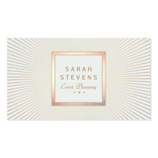 Elegant Gold Frame Event Planner Glamorous Double-Sided Standard Business Cards (Pack Of 100)