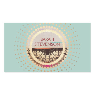 Elegant Gold Framed Horizon Creative Professional Business Card Templates