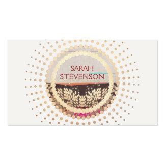 Elegant Gold Framed Horizon Logo Creative Designer Business Card