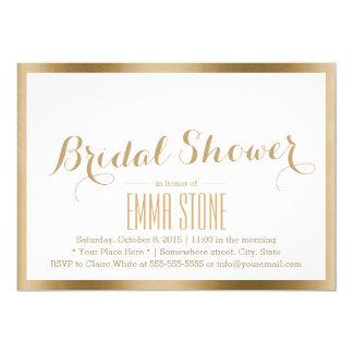 Elegant Gold Framed Minimal Bridal Shower Card