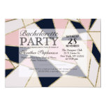 Elegant Gold Geometric Triangles 5x7 Paper Invitation Card