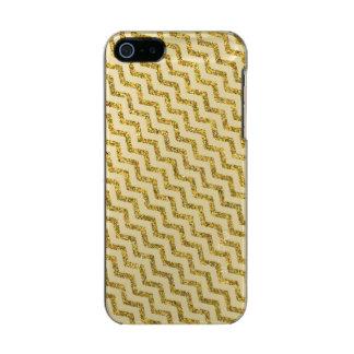Elegant Gold Glitter Chevron Metallic iPhone SE/5/5s Case