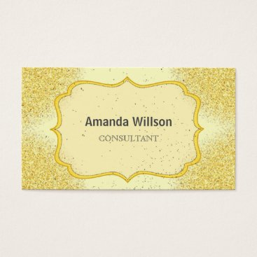 Professional Business Elegant Gold Glitter Effect Business Card