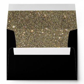 Elegant Gold Glitter Lined Invitation Envelope