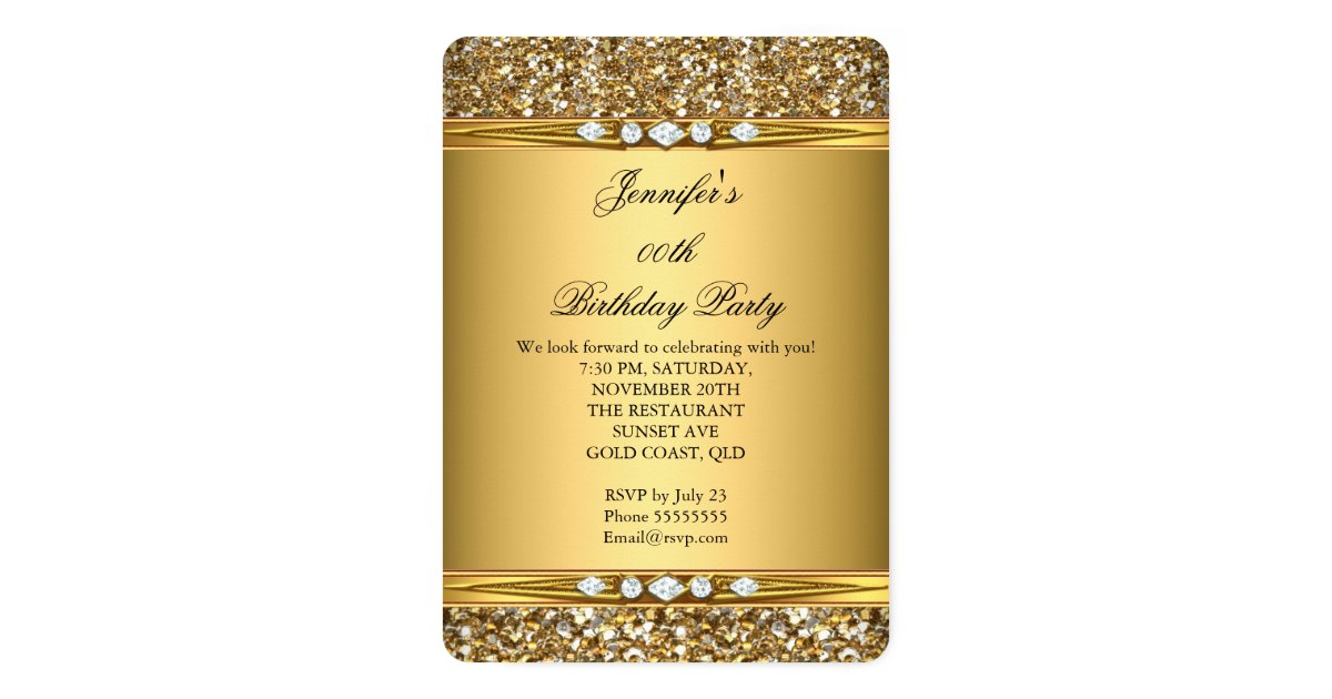 Adult Birthday Party Invitations & Announcements   Zazzle
