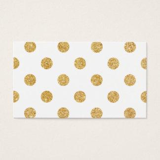 Elegant Gold Glitter Polka Dots Pattern Business Card