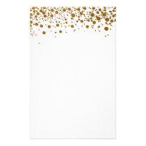 Elegant gold glitter Stationery