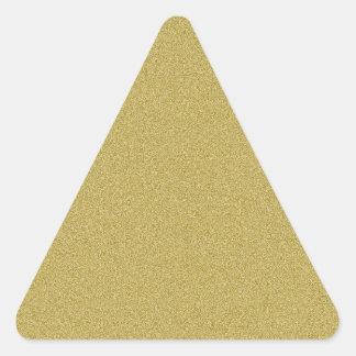 Elegant  Gold Glitter Triangle Sticker