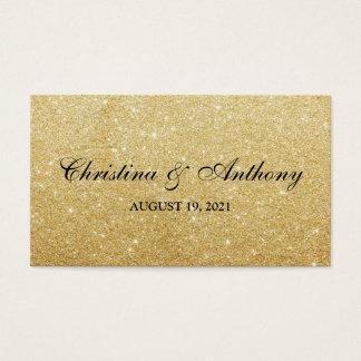 Elegant Gold Glitter Wedding Favor Tag Elegant