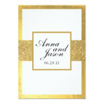 Elegant Gold Glitter Wedding Invitation
