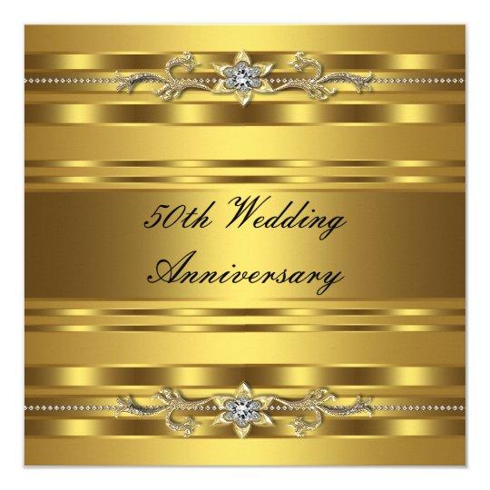 Elegant Gold Golden 50th Wedding Anniversary Card Zazzle