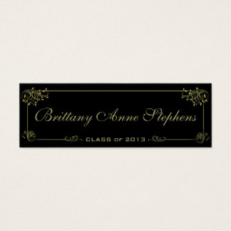 Elegant Gold Graduation Name Card Insert