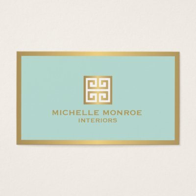 Business Cards Interior Design interior designer  luxury gold black geometric business card
