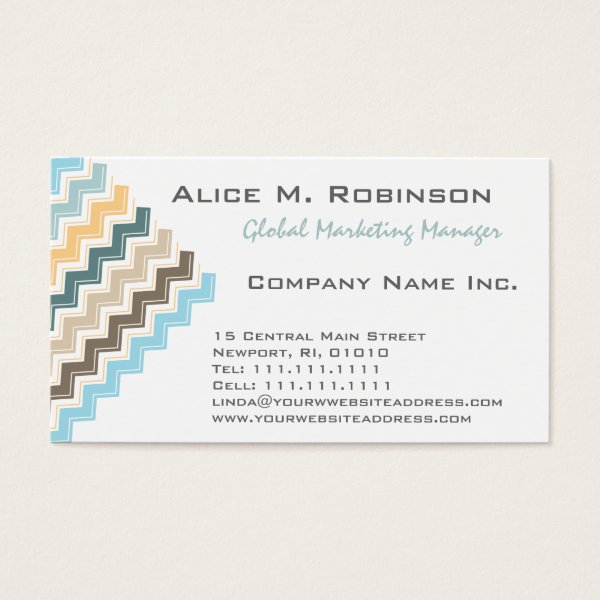 Hot pink black art deco chevron pattern business card antique images elegant gold green and aqua tribal chevron business card colourmoves