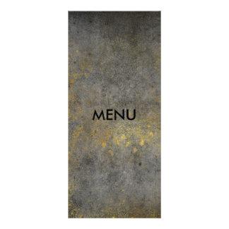 Elegant Gold Grungy Gray Menue Chic Rack Card