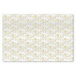 Elegant Gold Hearts Design Pattern Tissue Paper