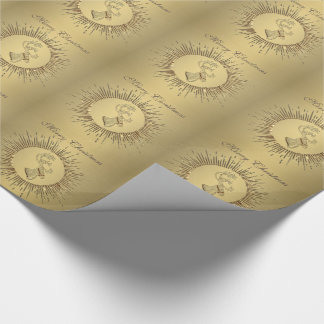 Elegant gold holiday Christmas reindeer winter Wrapping Paper