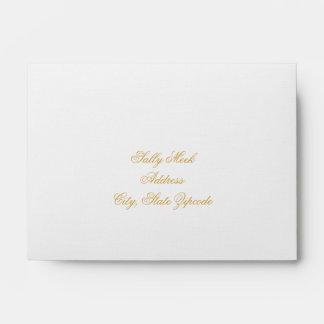 Elegant Gold Interior Wedding RSVP Envelope
