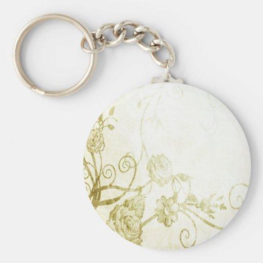 Elegant Gold Keychain