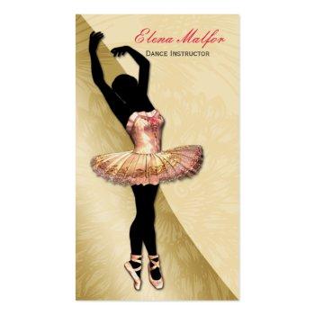 elegant gold lavish ballerina Business card