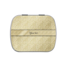 Elegant Gold Leaf Jelly Belly Tins at Zazzle