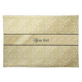 Elegant Gold Leaf Placemat