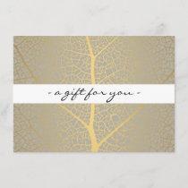 ELEGANT GOLD LEAF TREE PATTERN Gift Certificate
