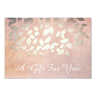 Elegant Gold Leaves Salon and Spa Gift Certificate Card
