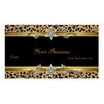 Elegant Gold Leopard Black Elegant Business Cards