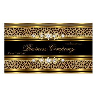 Elegant Gold Leopard Black ORNATE Business Card Templates