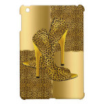 Elegant Gold Leopard High Heel Shoes Animal Cover For The iPad Mini