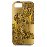 Elegant Gold Leopard High Heel Shoes Animal iPhone 5 Cases