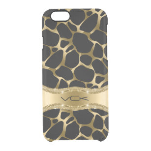 the latest fda59 c7d15 Black And Gold Leopard Print iPhone 6/6s Cases & Cover | Zazzle