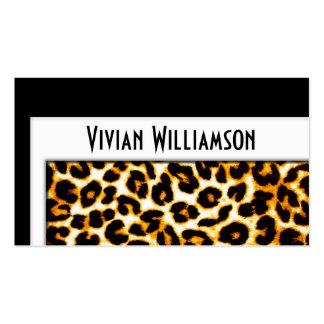 Elegant Gold Leopard Professional Business Card