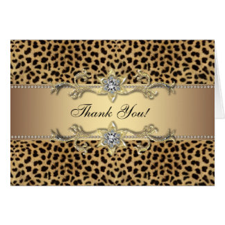 Elegant Gold Leopard Thank You Cards