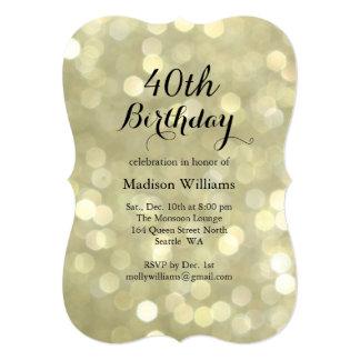 Elegant Gold Lights Birthday Invitation
