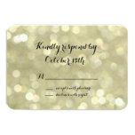Elegant Gold Lights RSVP Card