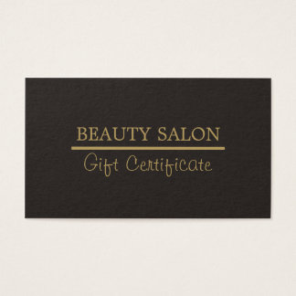 Elegant Gold Line Grey Beauty Gift Certificate