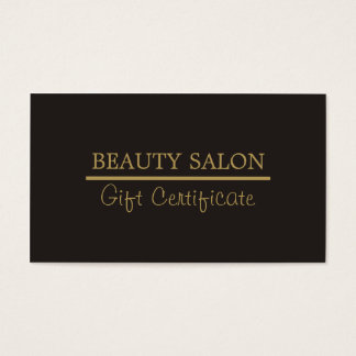 Elegant Gold Line Grey Beauty Gift Certificate