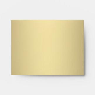 Elegant Gold Linen RSVP Envelopes