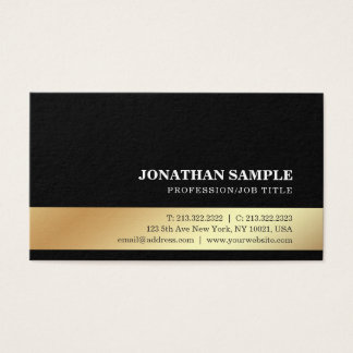 Elegant Gold Look Modern Professional Creative Business Card