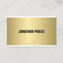 Elegant Gold Look Professional Modern Simple Plain Business Card