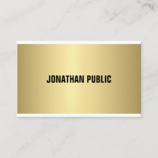 Elegant Gold Look Professional Modern Simple Plain Business Card