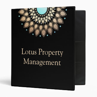 Elegant Gold  Lotus Mandala Binder