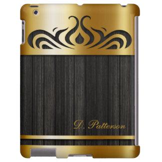 Elegant Gold Metal Cutout with Ebony Barnwood