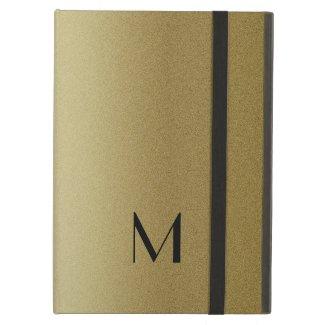 Elegant Gold Monogram Initial
