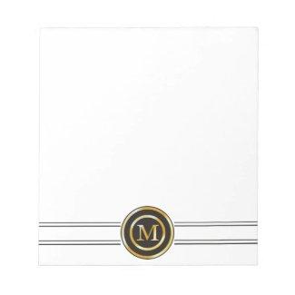 Elegant Gold Monogram M Memo Note Pads
