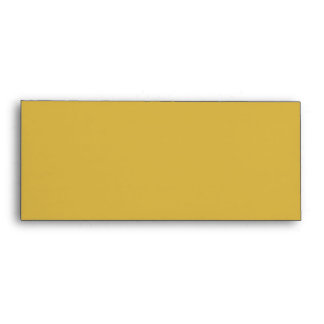 Elegant Gold Mustard Moroccan Quatrefoil Clover Envelope