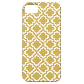Elegant Gold Mustard Moroccan Quatrefoil Clover iPhone SE/5/5s Case